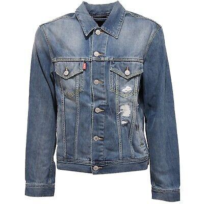3659U giacca jeans CARE LABEL blu jeans giubbotto uomo jacket men