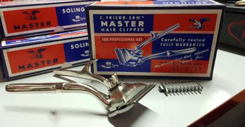 TOSATRICE A MANO PER CAPELLI MADE IN GERMANY NUOVA VINTAGE FOR PROFESSIONAL USE