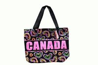 Large Ladies Canada Pink Letters & Multi-colored Hearts Bag..size:17 X 13 Inch