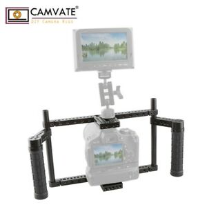 CAMVATE Camera Cage with Rubber Handle for Large-sized Camera with Battery Grip
