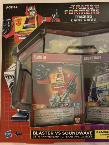 2019 SDCC HASBRO TRANSFORMERS TCG BLASTER VS SOUNDWAVE 35TH ANNIVERSARY CARDS