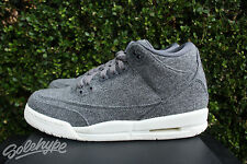 NIKE AIR JORDAN 3 III RETRO OG GS BG SZ 7 Y WOOL DARK GREY SAIL 861427 004