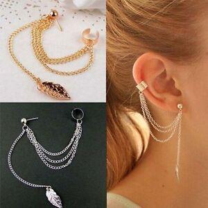 Drop-Jewelry-Tassel-Elegant-Gold-Plated-Threader-Dangle-Women-Chain-Earrings