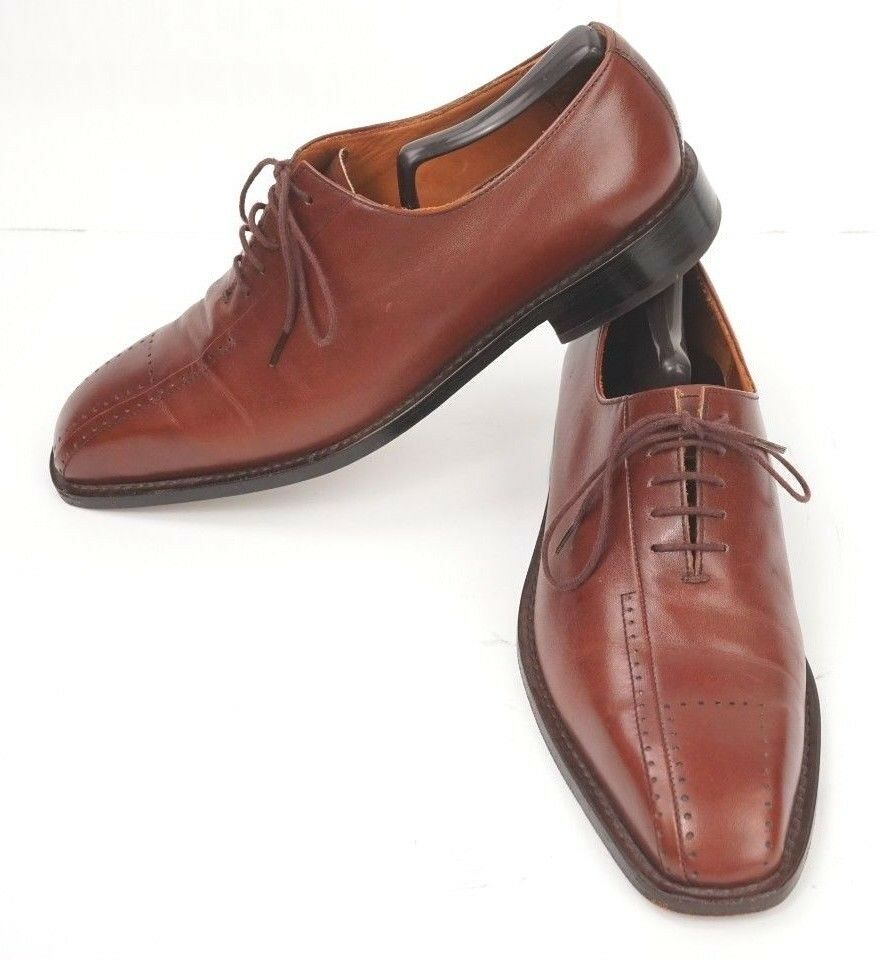 Silla Argentino Mens Brown Dress Shoes US Size 8.5 D Euro 41