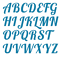 """FABRIC LETTERS IRON ON 1.5/"""" Size VINTAGE STYLE NEW Colours Die Cut"""
