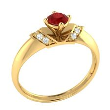Demira Jewels Wedding & Engagement  Ruby Gold Diamond Ring