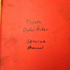 Toyota Orderpicker Service Shop Repair Troubleshooting Manual Fork Lift Truck