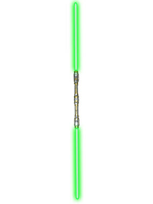 """52/"""" Blue Double Bladed Dual 2-Sided Laser Saber Staff Light Up Toy Light Sword"""