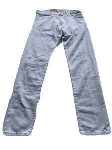 Polo Ralph Lauren Sullivan Slim Jeans Distressed 30 x 32 NWT $125 (ABC)
