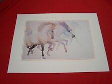 """Beatrice Bulteau', """"COLOURS en FETE"""" 1990 print - poster - Horses and Pegasus"""