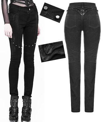Pantalon jeans clouté gothique punk lolita fashion armure spike harnais PunkRave
