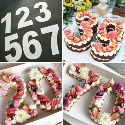 Plastic Number Cake Mold Cake Decorating Tool Muffin Cake Bakeware Mould Tool//