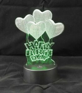3D Happy Birthday LED Light 7 Color Changing Table Light Night Light