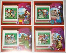 GUINEA 1993 Block 442-45 A S/S 1221-24 Soccer World Cup 1990 Italy gold ovp MNH
