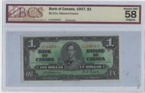 1937-BC-21a-Bank-of-Canada-One-Dollar-AU-58