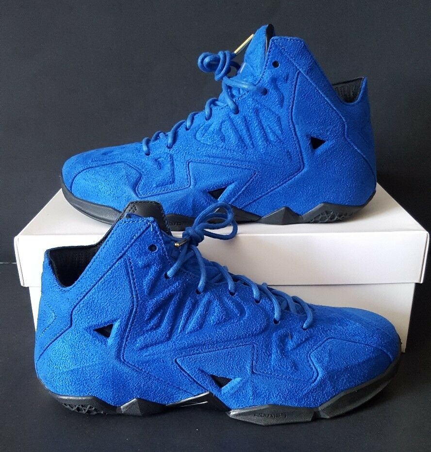Nike LeBron 11 XI EXT Blue Suede QS Size 8.5 656274-440 Kyrie MVP Cavs
