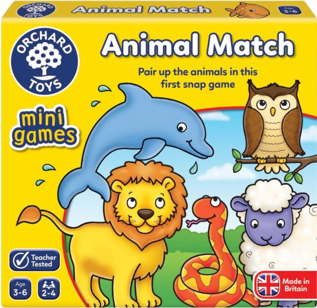 Orchard Toys MINI GAME ANIMAL MATCH Educational Game Puzzle BN