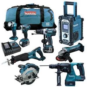 Makita-18V-Akku-Werkzeug-Set-DMR107-DHR243RMJ-Kombi-Bohrhammer-rtj-y1j-12tlg