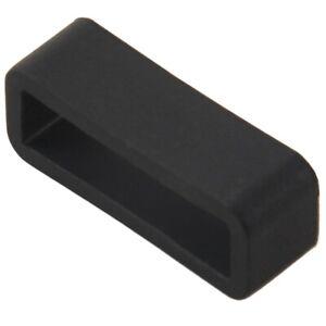 5x-Black-Watch-Strap-Retaining-Hoop-Loop-Gummi-Halter-Schnalle-Halter-22mm-z7f9