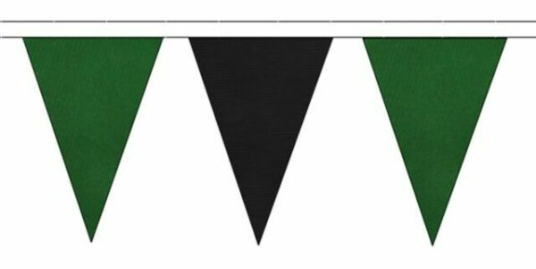 Black /& Claret Triangular Flag Bunting 50m with 120 Flags
