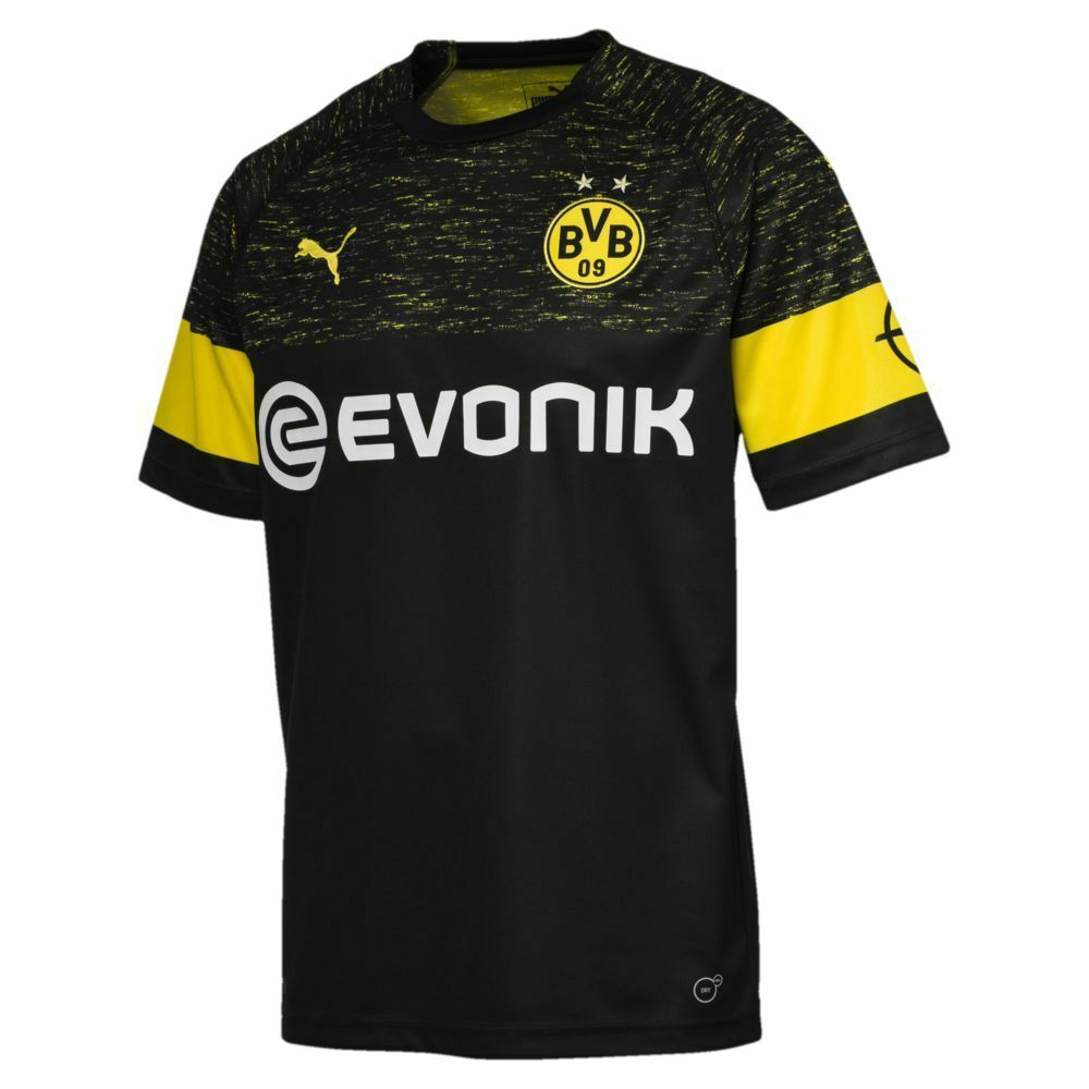 Puma Kinder Borussia Dortmund Auswärtstrikot Trikot 2018 2019 BVB Away Trikot Auswärtstrikot schwarz 1fc6c3