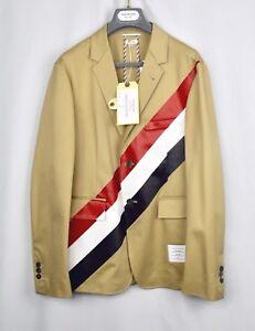 kaki streep Thom Msrp2k nieuw sportjas Browne katoenen jas 2 Blazer Diagonale MpVGqUSz