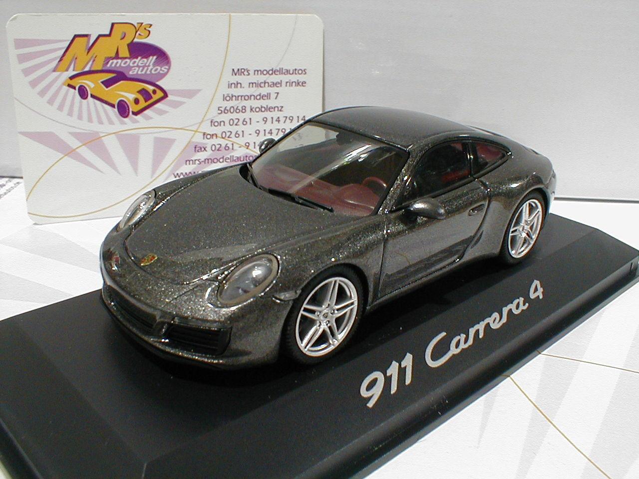 HERPA publicitaires Modèle   porsche 911 Carrera 4 coupé année 2000  grismetallic  1 43