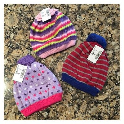 THE CHILDREN/'S PLACE BABY HEART HAT  6-12 MONTH TODDLER 2-4 YRS PURPLE HEART HAT