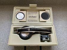 Vintage Dymo 1570 Tapewriter Kit Chrome Label Maker Hard Case 3 Wheels Amp Tapes