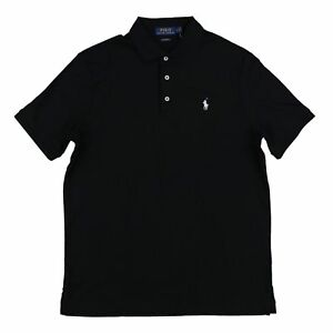 POLO-RALPH-LAUREN-SOFT-TOUCH-CLASSIC-FIT-POLO-BLACK-SZ-MENS-LARGE-L-NEW-NWT