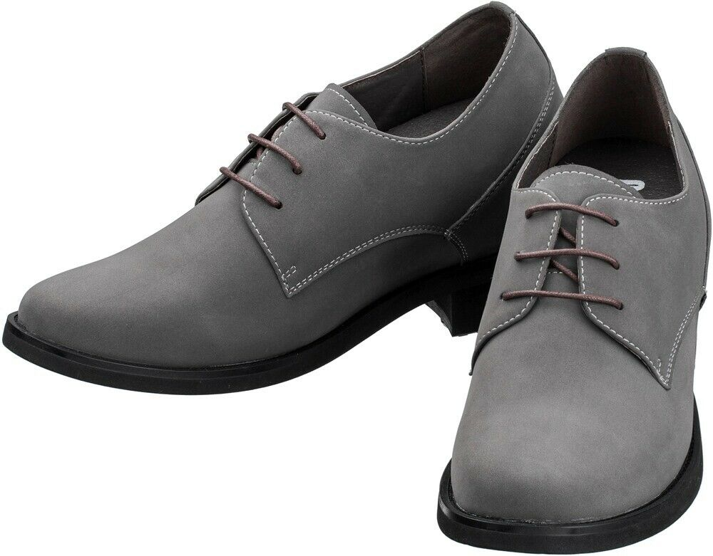TOTO D21906-2 Inches Elevator Height Increase Grey Casual Light Dress Shoe