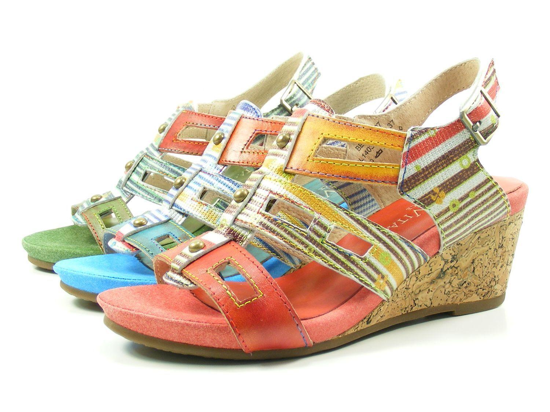 Laura Vita SL140356-27 Benoit 27 Schuhe Damen Keil Sandalen Sandaletten