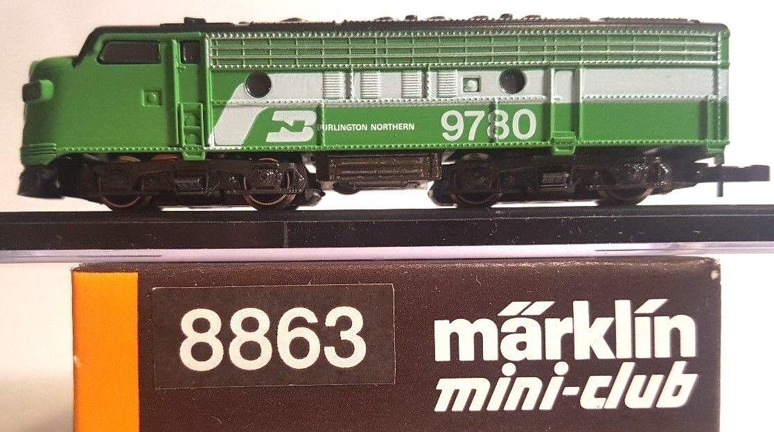MARKLIN Z MINI CLUB 8863 EMD F7 BN Diesel Loco   9780 W CC testato lnib
