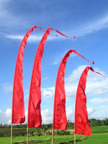 Deko Bali-Fahne 5 m diverse Farben MIT STANGE 5 m Fahnen Balifahne Garten