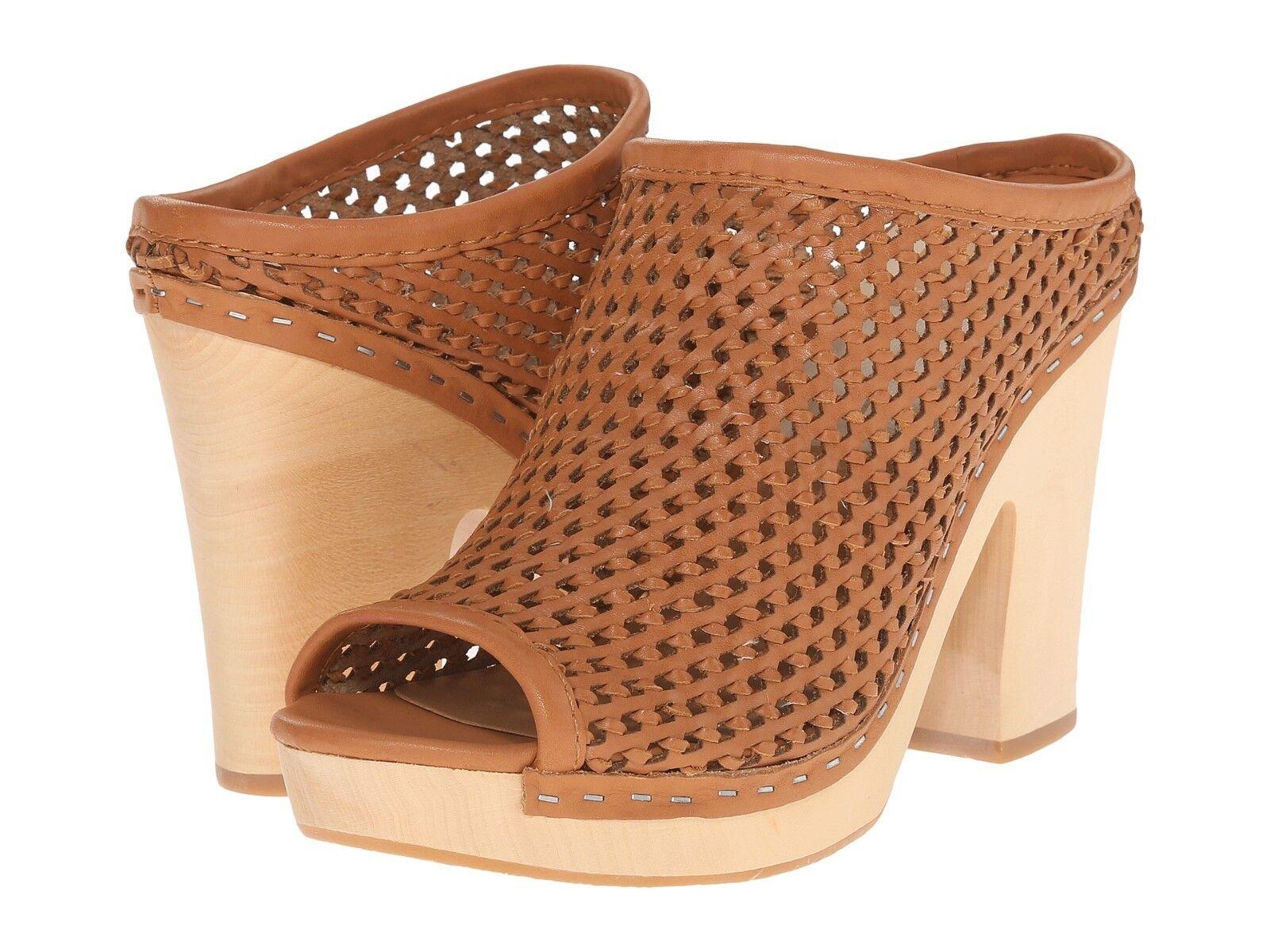 NEU Dolce Vita BROOKS Clog NIB Woven Leder Platform Wedge Mule Tan 1011 220