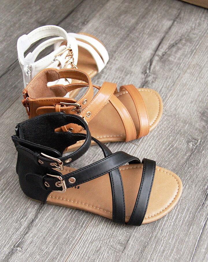 ❤️Rolayllove❤️ Kids Baby Girls Sandals Crystal Girls Strappy Gladiator Sandal