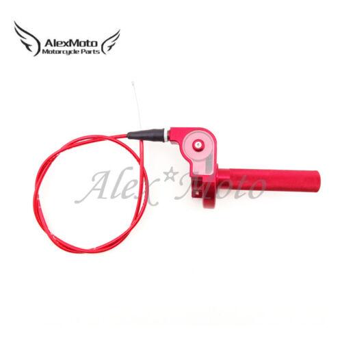 Red CNC Aluminum Twist Throttle /& Cable For Honda CRF 50 70 80 100 Pit Dirt Bike