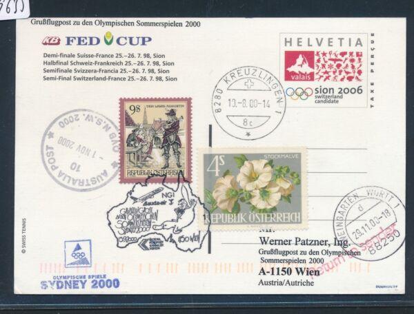 09635 A) Lauda Olympiades Pour Lp Vienne-sydney 15.9.2000, Ga Suisse De Tennis Divers ModèLes RéCents