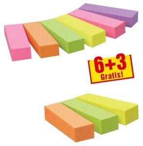 Post-it Haftstreifen Page Marker farbsortiert 6+3 GRATIS  9x 100 Haftmarker