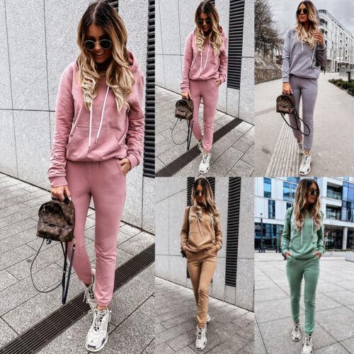 Pants Set Ladies Casual Sport Tracksuit Suit Sweatshirt 2pcs Women Hoodie Top