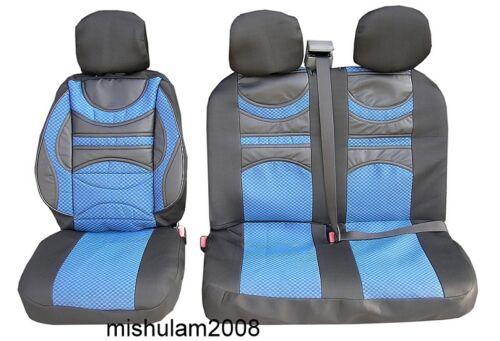2+1 Blau Premium Gepolsterte Sitzbezüge Schonbezüge für MERCEDES SPRINTER VITO