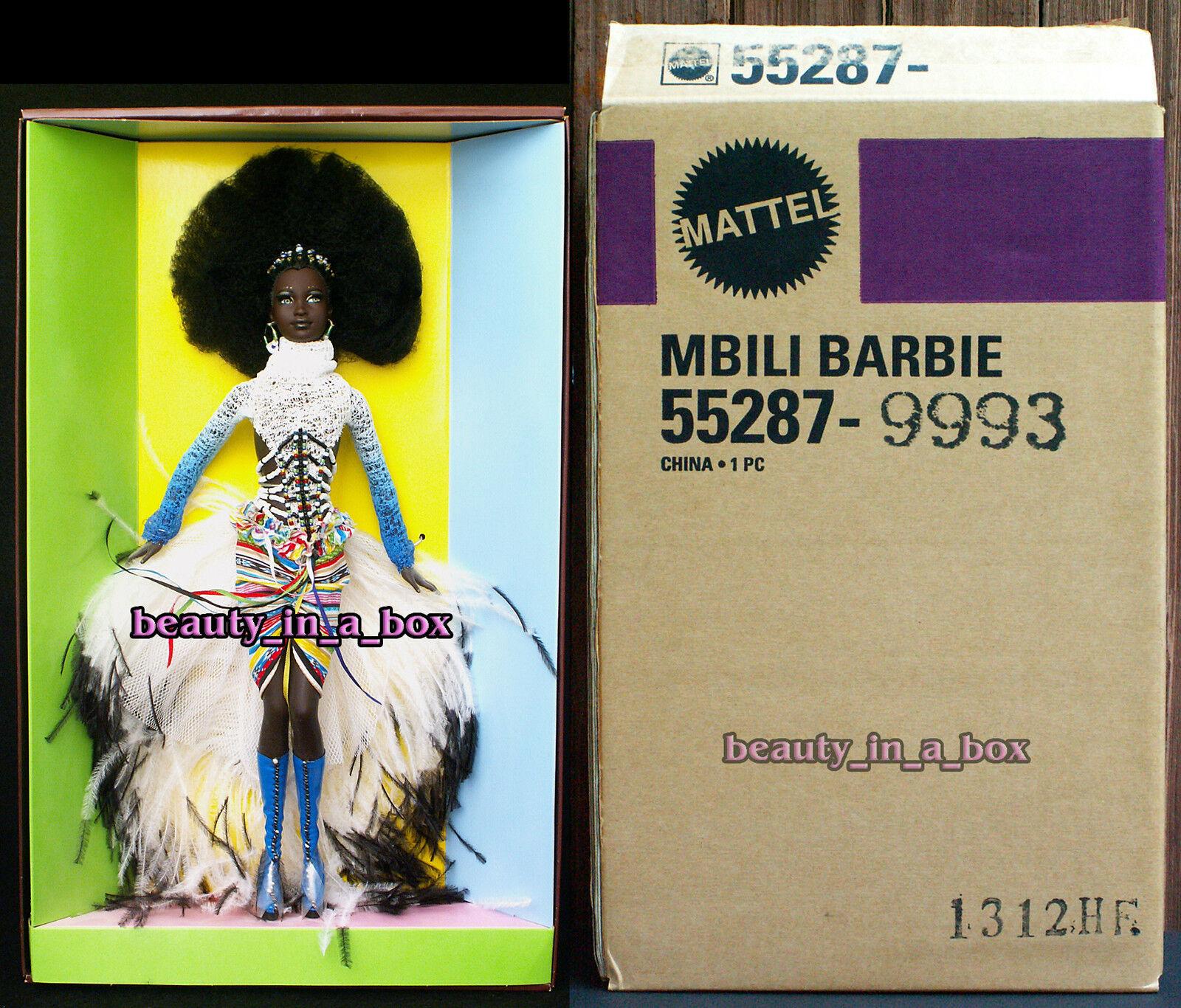 MBILI tesoros de África Byron Lars en embarcador Muñeca Barbie African American AA