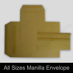 PAPER ENVELOPES C5//A5 C4//A4 DL Plain Manilla SELF SEAL Brown Small Medium Large