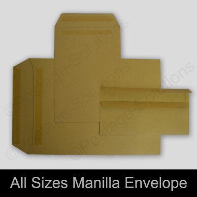 C5 PLAIN WHITE MANILLA Self Seal Envelopes BROWN 50 20 50 100  500 1000 229X162