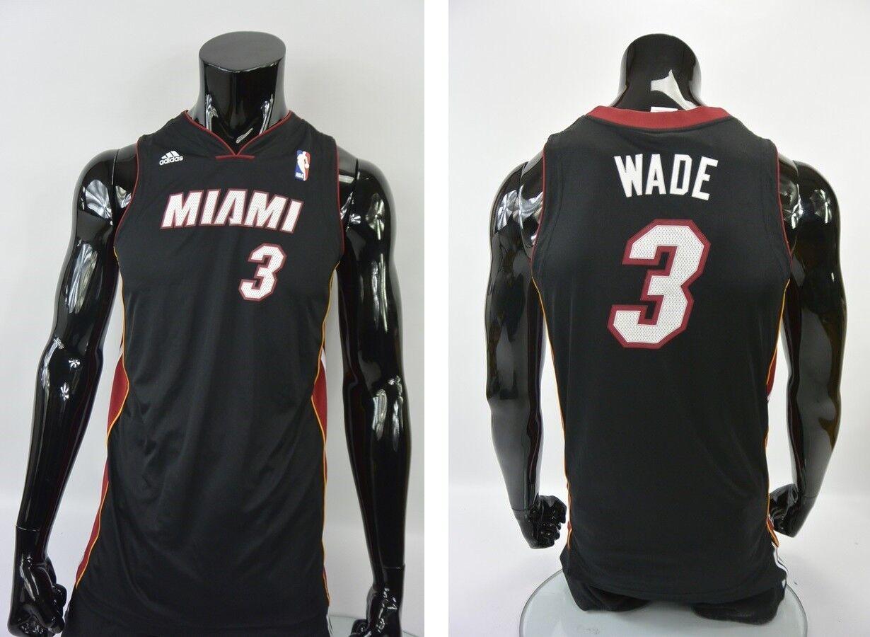 Adidas NBA Miami Heat Jersey Basketball Shirt Dwyane Wade Größe XL.Boys  XS adult  | Überlegene Qualität