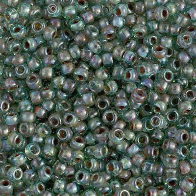 15//0 Japanese seed beads Miyuki Picasso Sea foam Green-28grams