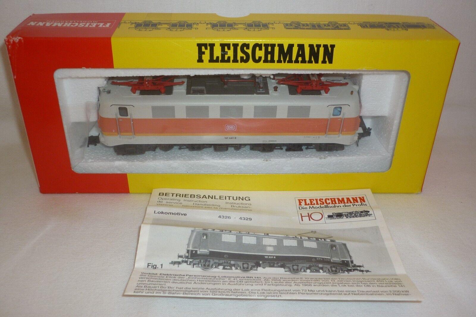 FLEISCHMANN - SPUR H0 - 4329 ELEKTRO LOKOMOTIVE DB 141 441-6  -  OVP (8.EI-79)