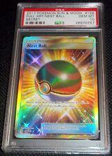 PSA 10 GEM MINT Nest Ball 158/149 - Pokemon SM Sun & Moon Gold Secret Rare Card