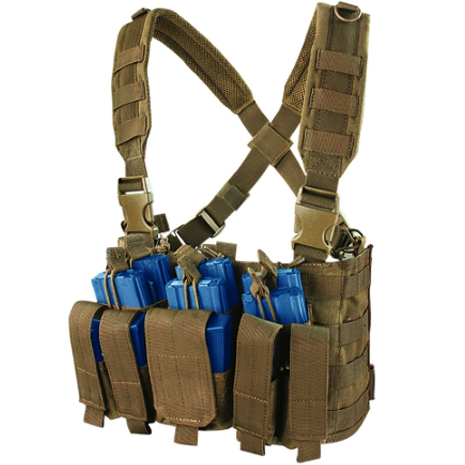 Condor Coyote Brown MCR5 Military Recon Tactical Kangaroo Mag Pouch Chest Rig