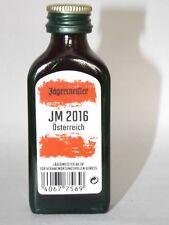 Jägermeister mini flasche EM 2016 JM Austria Sonderedition 0,02 ml 35% vol